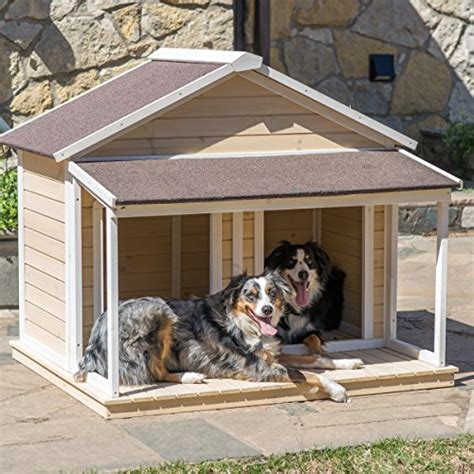 two dog dog house antique large dog house w roof solid wood penthouse kennels crates duplex 51x43x43 w