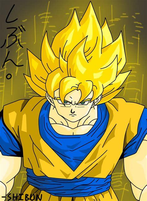 Pajangan Goku Saiyan 2 z goku saiyan by shibunkun on deviantart