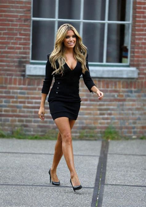 Silvie Dress sylvie meis in black dress wags