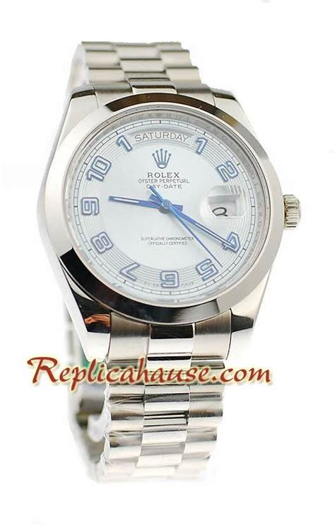 rolex replique day date ii silver montre suisse 41mm rhfr 4129 550