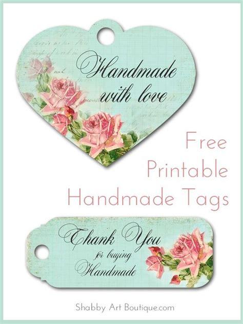 printable label handmade free printable handmade tags shabby art boutique free