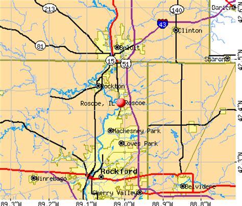 roscoe illinois map