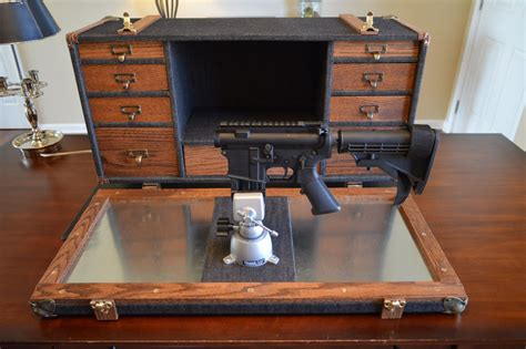 Buy a Handmade Steamer Trunk Gunsmith Workstation, made to