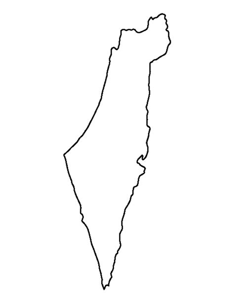 Free Outline Map Of Israel by Israel Pattern Use The Printable Outline For Crafts Creating Stencils Scrapbooking And More