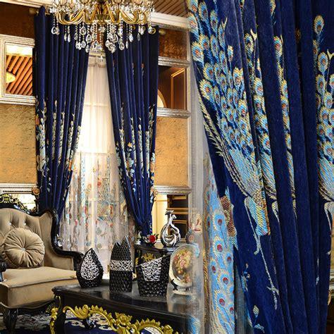 peacock blue sheer curtains online get cheap peacock blue bedroom aliexpress com