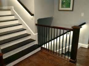 banister lights led lighting brightens up this staircase with led