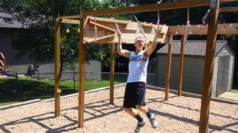 american ninja warrior backyard american ninja warrior course homemade youtube