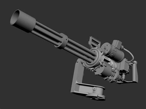 Kaos 3d Gafting Gun m134 minigun 3d model max obj fbx ma mb ztl stp cgtrader