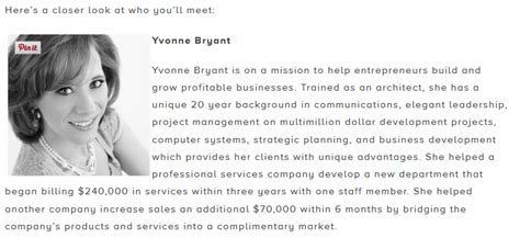 How To Create Your Professional Speaker Biography Yvonne Bryant International Speaker Bio Template