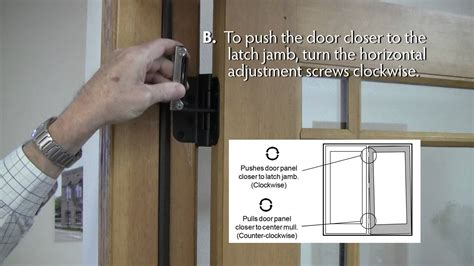 How To Adjust Lincoln Swing Patio Door Hinges Youtube Adjusting Patio Door Hinges