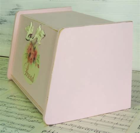 shabby chic bread box painted shabby pink wooden bread box