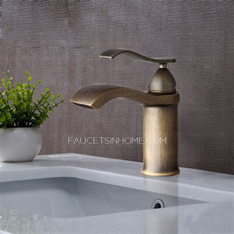 brushed brass bathroom fixtures waterfall brushed brass finish bathroom faucets