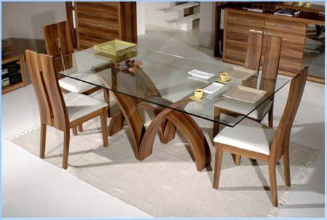 rectangular glass top dining table sets rectangular dining room tables decor10