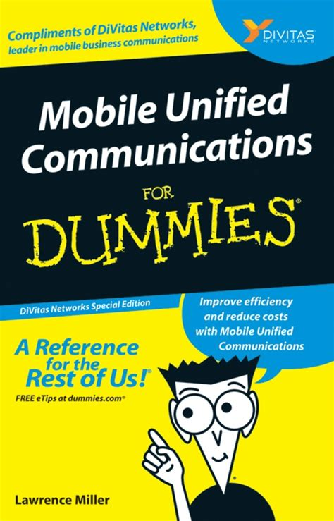 for dummies template book cover divitas publishes quot mobile uc for dummies quot book