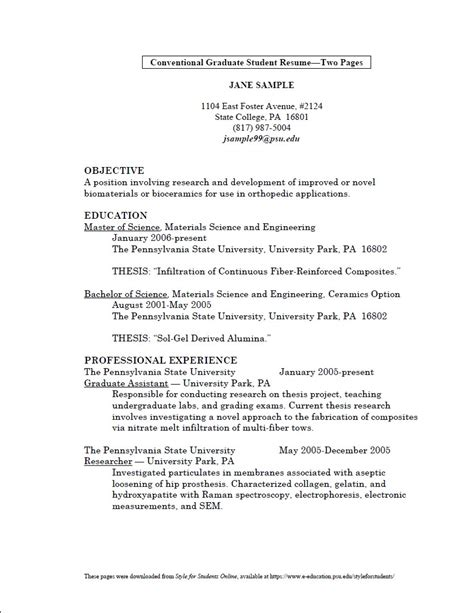 Graduate Resume Summary Resume Summary Statement For Recent College Graduate 28 Images Resume For Recent College