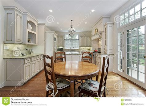 eating kitchen island kitchen with island and eating area royalty free stock