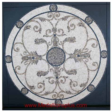 audrey 36 quot mosaic tile floor medallion medallionsplus com floor medallions on sale tile