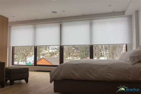 Remote Window Blinds Bedroom Window Blinds Remote Operated Modern Bedroom