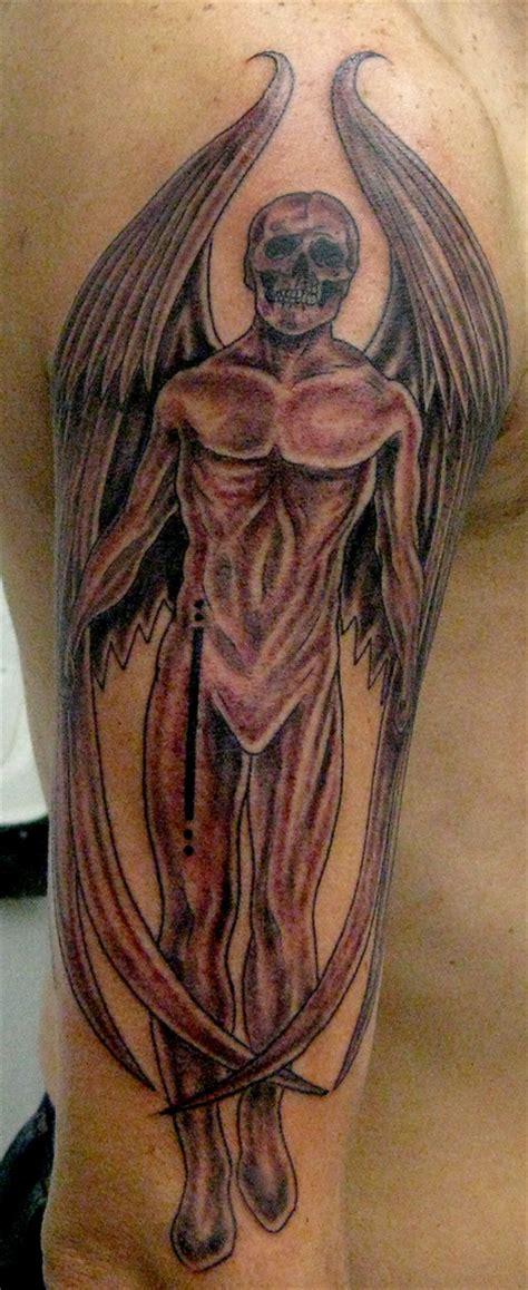 angel skull tattoo designs arm tattoos for 7 cool ideas worth considering