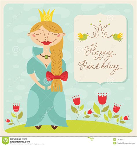 Happy Birthday Princess Card Template by Happy Birthday Princess Card Stock Photos Image 33809833