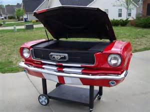 Backyard Classic Grill by 1966 Mustang Charcoal Grill Bbq Grills Pinterest