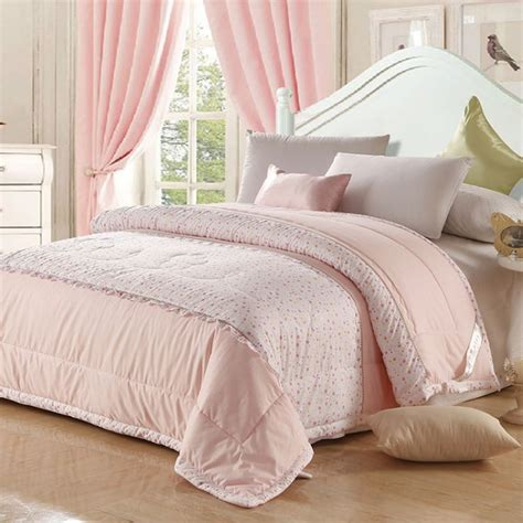 soft pink comforter hot selling pink quilt summer queen size soft comforter