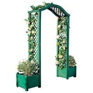 Arch With Planters by Plastic Blossom Archway With Planters Co Uk