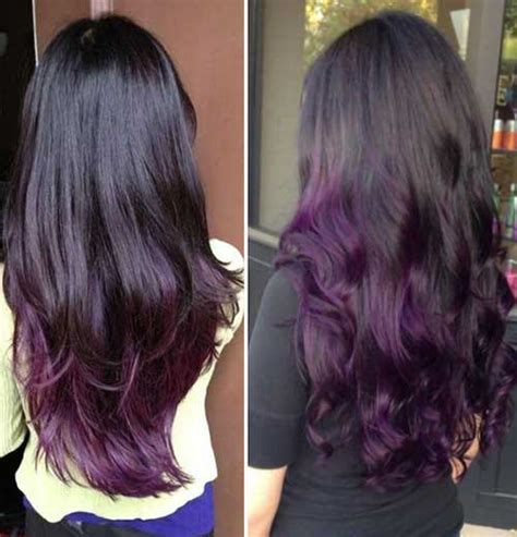 hairstyle with dark color underneath and layered purple hair color long hairstyles 2015 long haircuts 2015