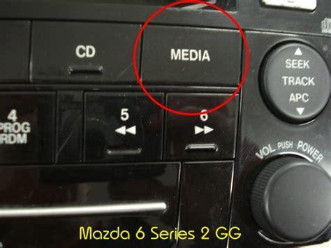 media button mazda 3 mazda 3 bk series 2 mazda 6 gg series 2 aux in accessory