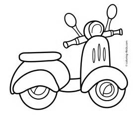 scooter transportation coloring pages kids coloring pages coloring pages