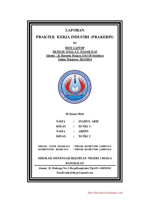 contoh judul laporan prakerin tkj contoh laporan prkatek kerja industri prakerin smk tkj