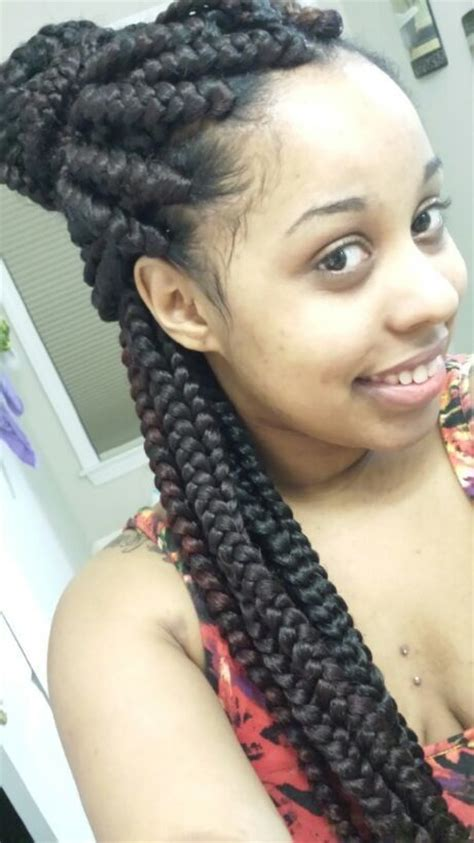jumbo braids hairstyles pictures boxes braids and jumbo box braids on pinterest