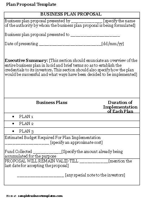 Business Proposal Templates Exles Sle Business Plan Proposal Template Informal Summer C Business Plan Template
