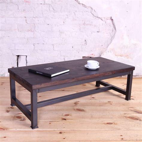 Industrial Style Coffee Tables Sleek Steel Industrial Style Coffee Table By Cosywood
