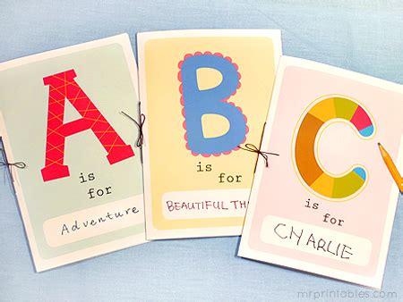 Printable Alphabet Book Mr Printables Make Your Own Alphabet Book Template