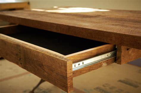 Diy Desk Drawer How To Build A Reclaimed Wood Office Desk How Tos Diy