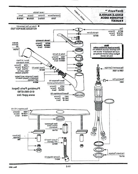 pull out kitchen faucet repair moen single handle pullout kitchen faucet repair diagram