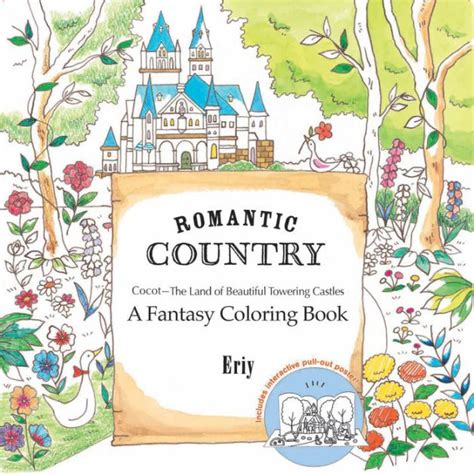 romantic country a fantasy coloring book by eriy paperback barnes noble 174