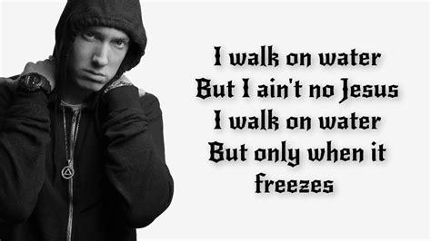 eminem walk on water eminem walk on water ft skylar grey lyrics lyric