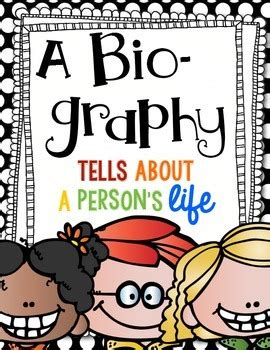 biography writing unit what is a biography a fun writing unit by first and