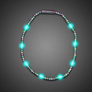 battery light necklace battery operated light up mardi gras necklace
