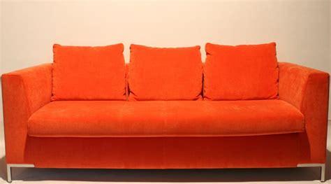 canape orange grand canape orange fixe trois places forme des 233 es 70