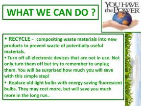 Can You Recycle Light Bulbs Energy Conservation Ppt