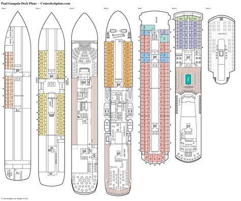 cruise ship floor plan paul gauguin deck plans diagrams pictures