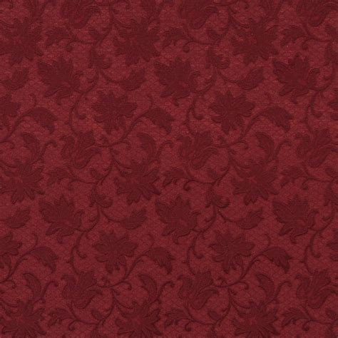 wine burgundy floral swirl brocade upholstery