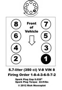 5 7 v 8 vin 8 firing order ricks free auto repair advice