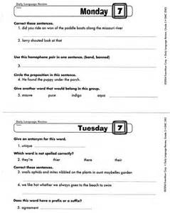 all worksheets 187 daily language review grade 5 worksheets