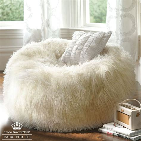 Fur Sofa Cover Free Shipping Sofa Set Living Room Furniture Luxe Bean Bag
