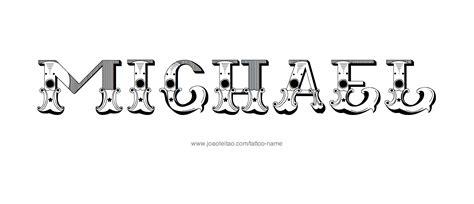 tattoo name michael michael name tattoo designs