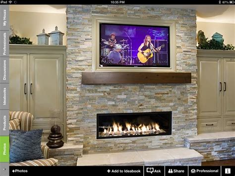 Fireplace Mantel Height With Tv Above by Best 25 Tv Fireplace Ideas On Tv Above
